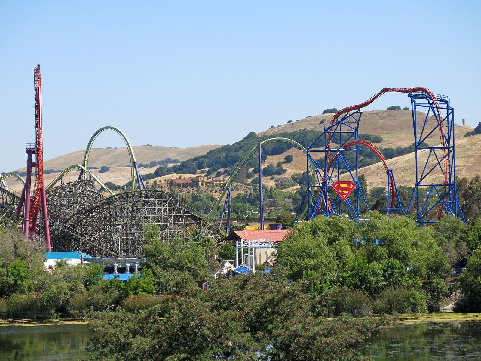 Six Flags Discovery Kingdom Park Map Coaster Trips 2014